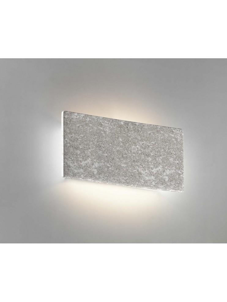1 light gray ceramic stone wall light coll. 8673.381