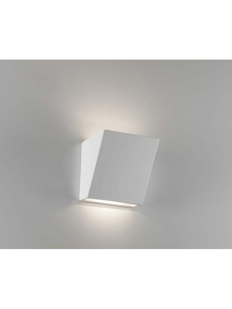 Applique in ceramica bianco a 1 luce coll.2601A108