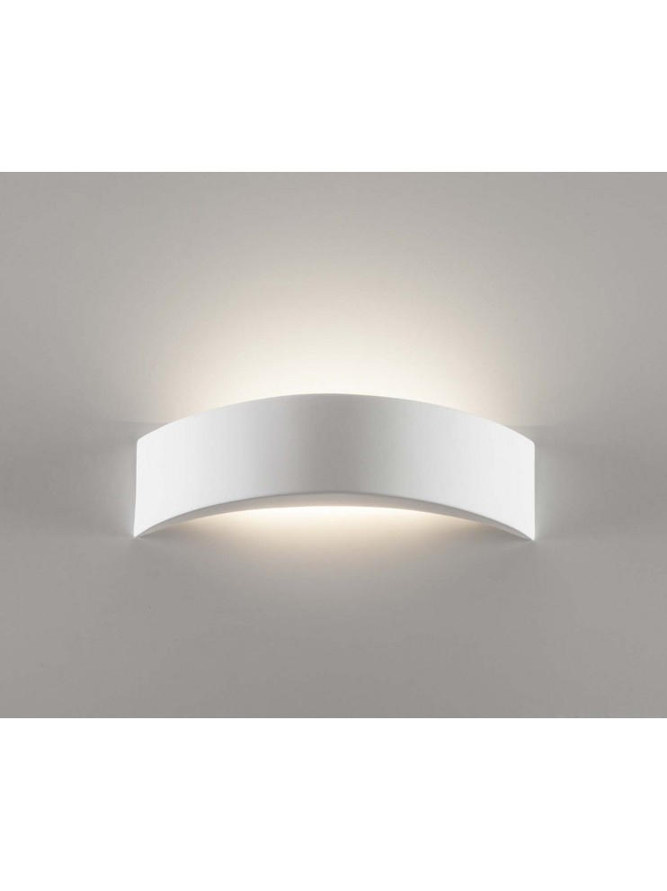 Wall sconce in white ceramic 1 light coll. 603A108