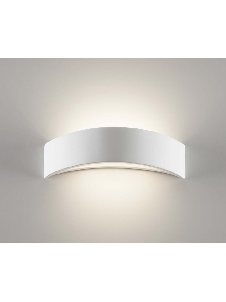 Wall lamp in white ceramic with 1 light coll. 2603B108