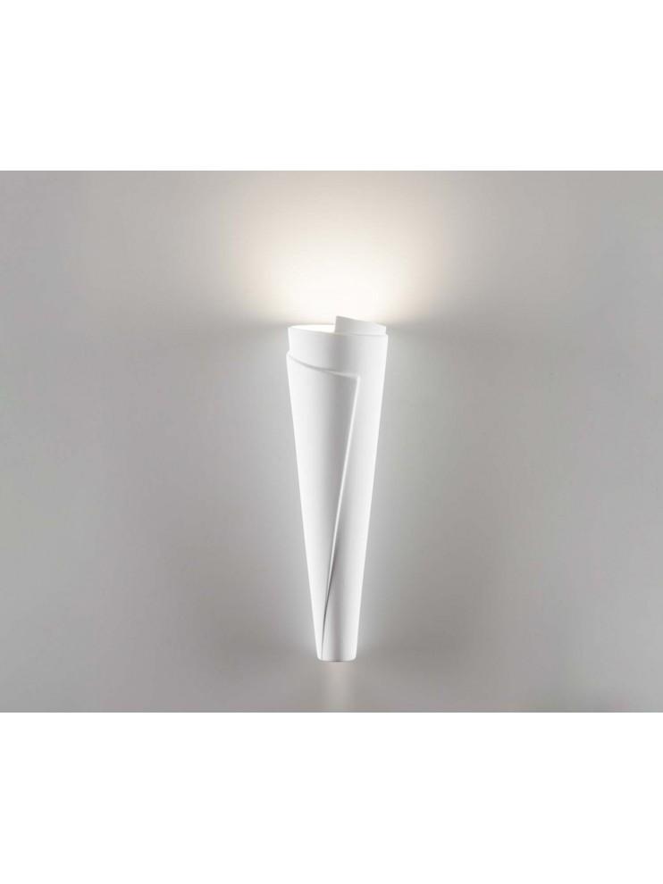 Applique in ceramica bianca a 1 luce coll.2602A108