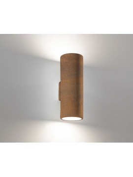 Corten ceramic modern wall light 2 lights coll. 2184.390