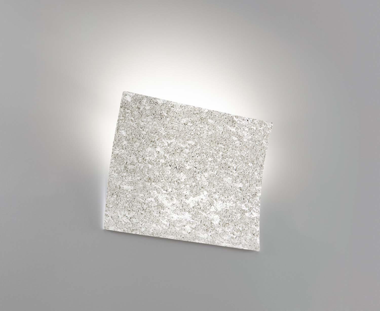 Applique moderno ceramica pietra grigia luce coll