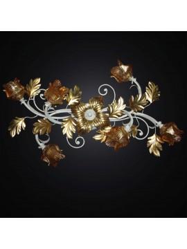 Plafoniera classica in ferro battuto foglia oro 6 luci BGA 2863/PL6