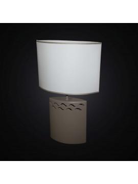 Lume moderno in ceramica tortora ovale 1 luce BGA 2869-LG
