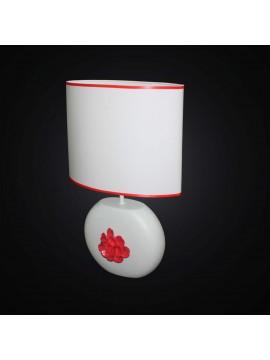 Lume moderno in ceramica bianco e rosso 1 luce BGA 2871-LG