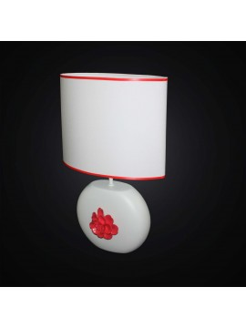 Modern lamp in white and red ceramic 1 light BGA 2871-LG