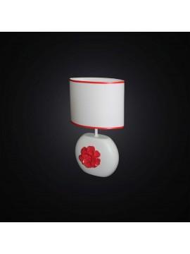 Lumetto moderno in ceramica bianco e rosso 1 luce BGA 2871-LP