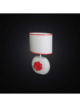 Modern white and red ceramic table lamp 1 light BGA 2871-LP