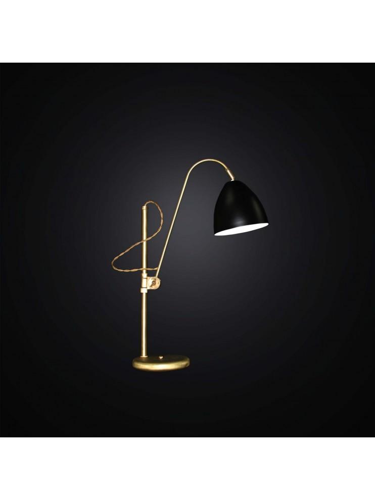 Lampada da tavolo classica snodabile in oro 1 luce bga 2877 l - Lampada da tavolo classica ...