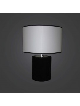 Modern large black ceramic lamp 1 light BGA 2886-LG