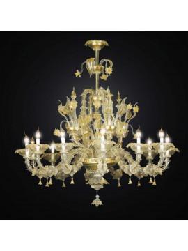 Lampadario murano classico oro a 12 luci BGA 2791/12