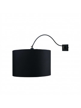 Applique snodo moderno design con paralume nero 1 luce BGA 2792/A