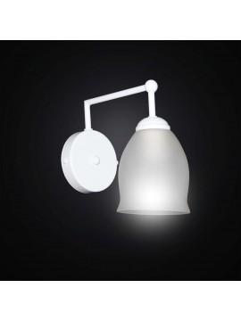 Applique moderno lineare bianco a 1 luce BGA 2797/A1