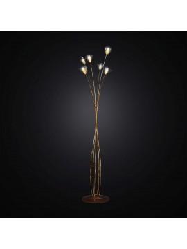 Piantana classica in ferro battuto 6 luci BGA 2798/PT6