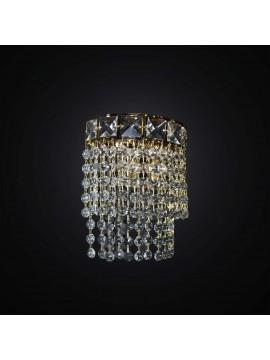 Applique classico in cristallo 2 luci BGA 2810/A design swarovsky