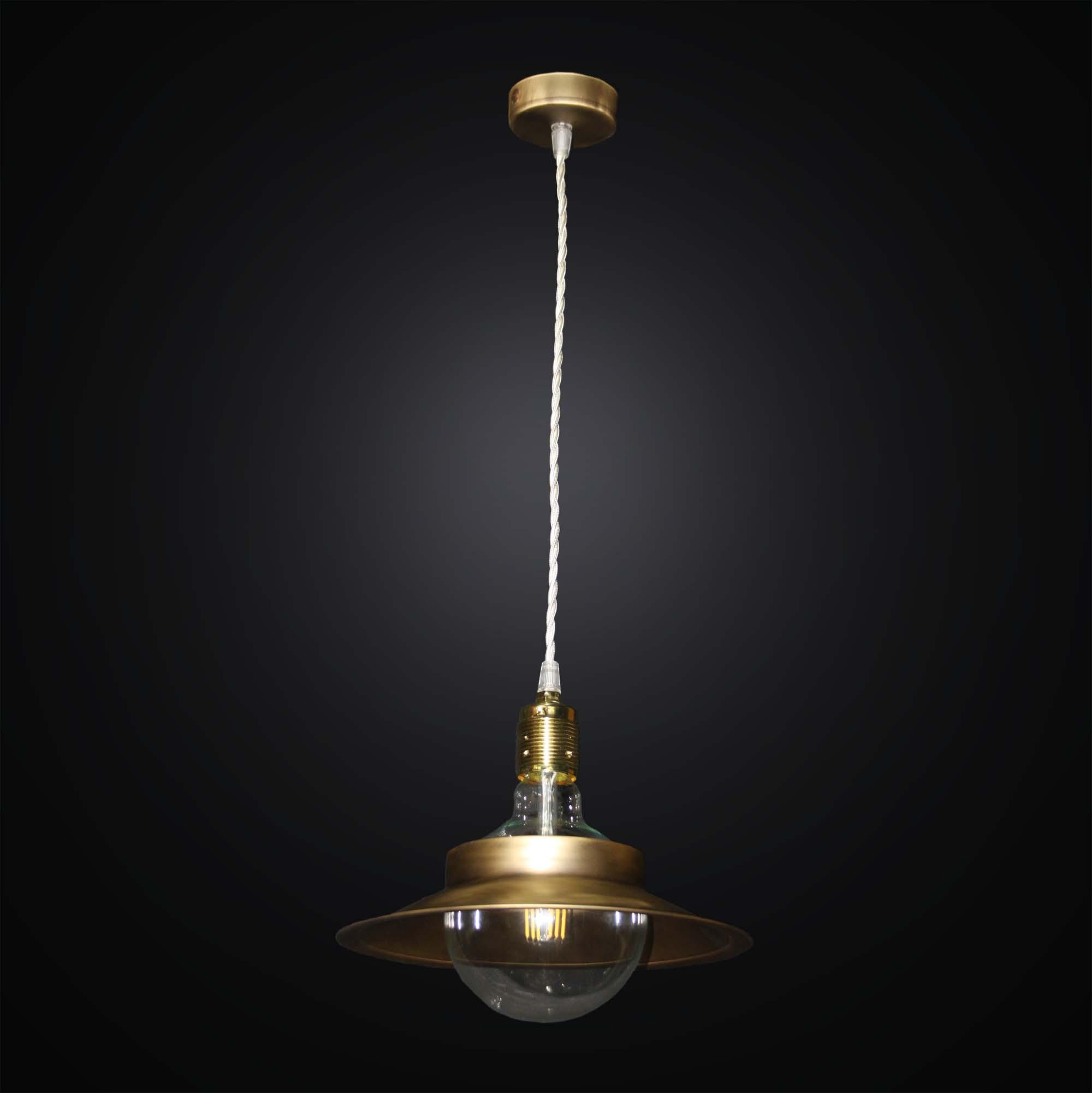 Luce Sospensione Design.Lampadario A Sospensione Design Rustico 1 Luce Bga 2813 S25 Ottone