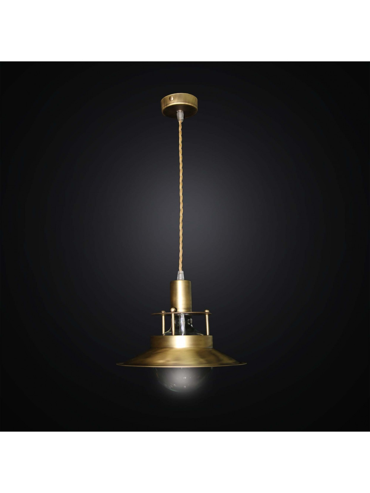 Rustic design pendant light 1 light BGA 2814 / S25 brass