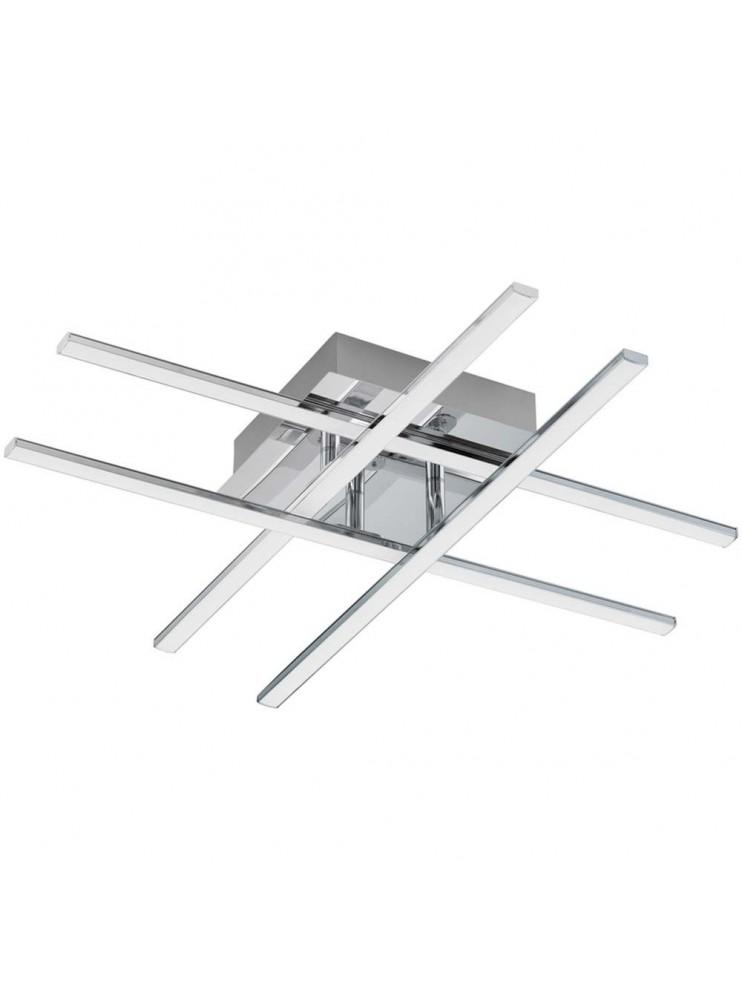 Contemporary chrome plated 24w led ceiling light GLO 95568 Lasana 1