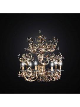 Lampadario classico in ferro battuto e cristallo 6 luci BGA 2839/6