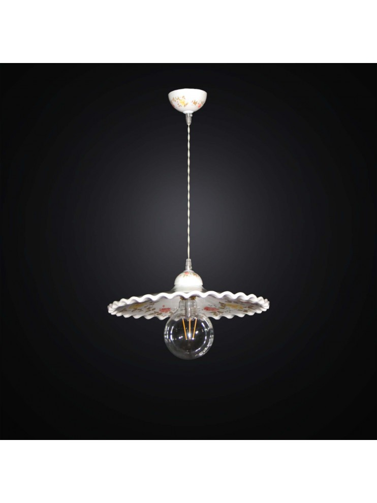 Lampadari In Ceramica.Lampadario A Sospensione Rustica In Ceramica 1 Luce Bga 2842 30