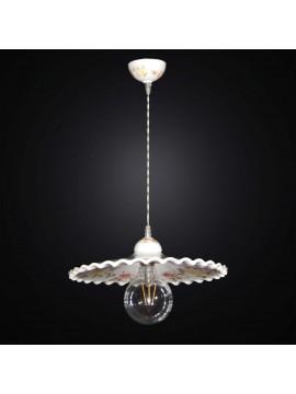 Lampadario a sospensione rustica in ceramica 1 luce BGA 2842/40