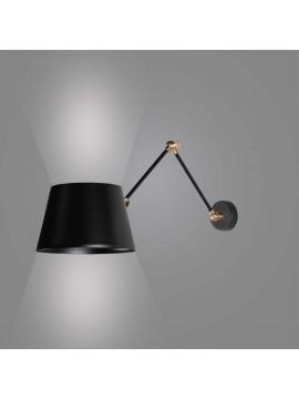 Applique moderno snodabile design nero 1 luce BGA 2845/A1