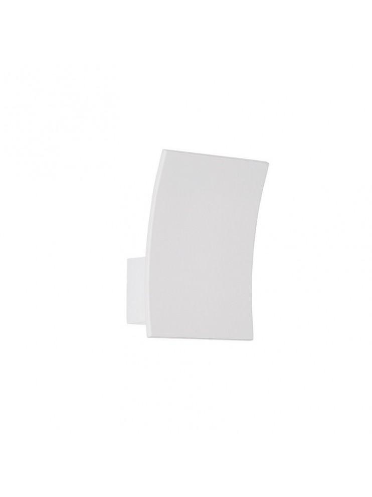 Applique a led 5w moderno bianco curvo design Fix