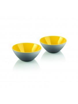 Set 2 ciotoline guzzini collezione my fusion grigio e giallo