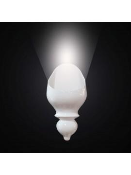 Applique moderno in ceramica bianca 1 luce BGA 2838/A