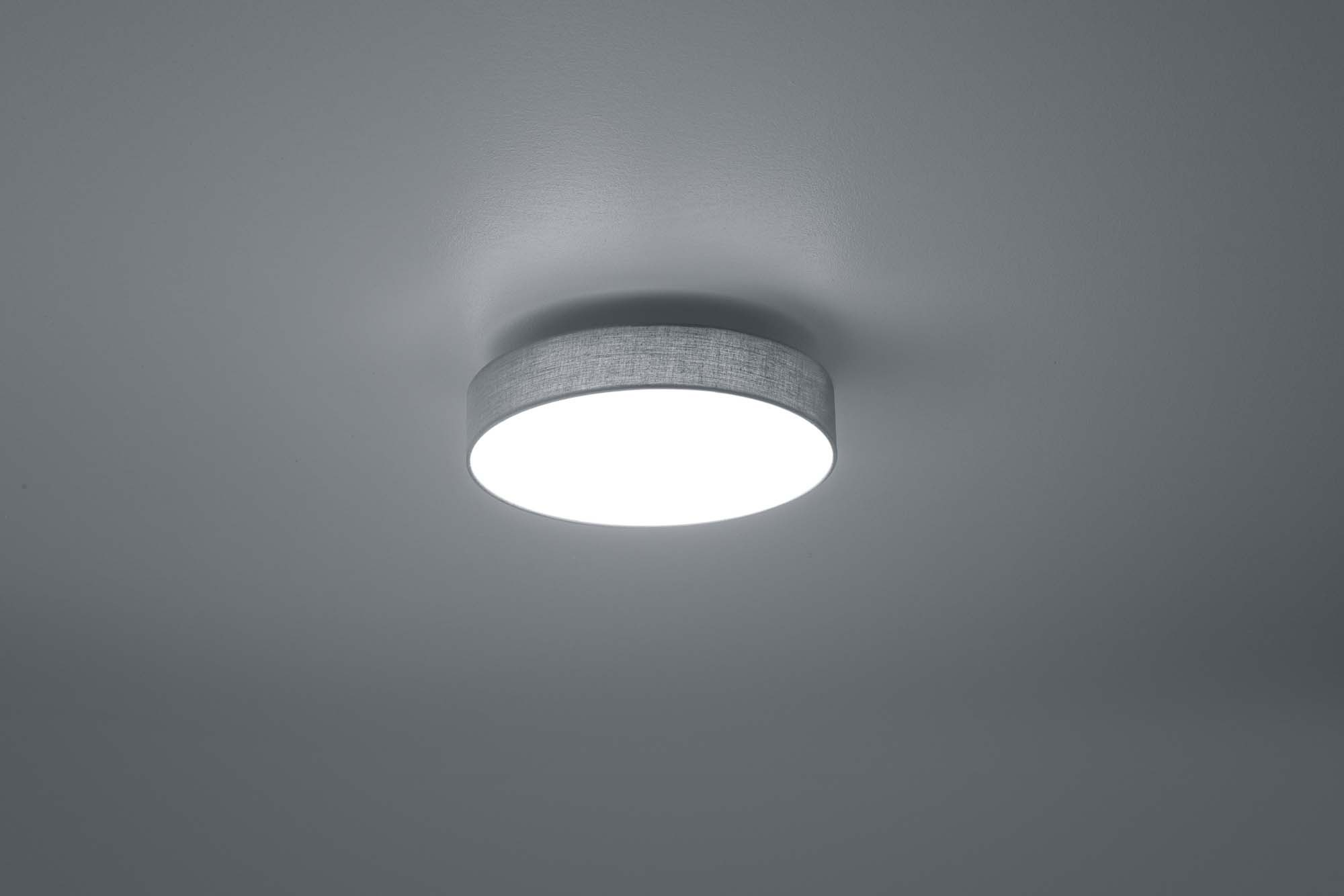 Plafoniera Tessuto Design : Plafoniera moderna a led 11w in tessuto grigio trio 621911211 lugano