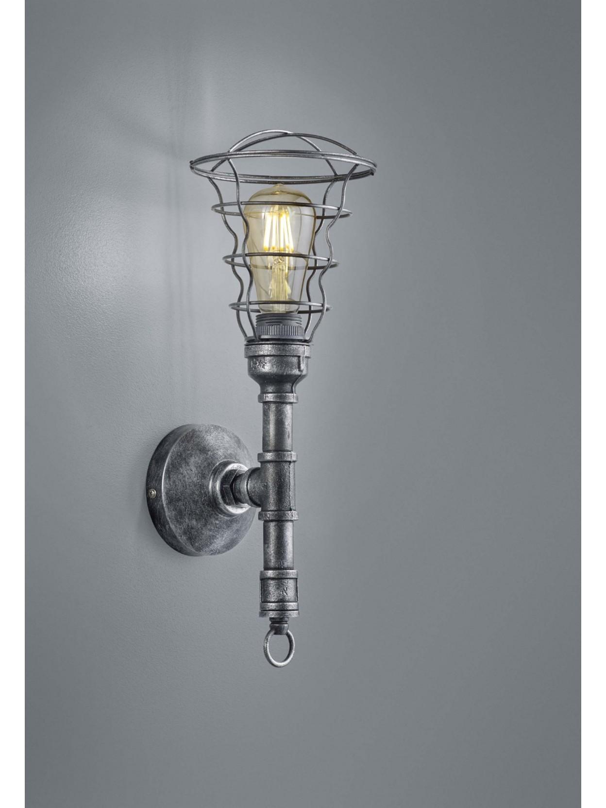 Applique vintage con tubi acqua 1 luce trio 207000188 Gotham