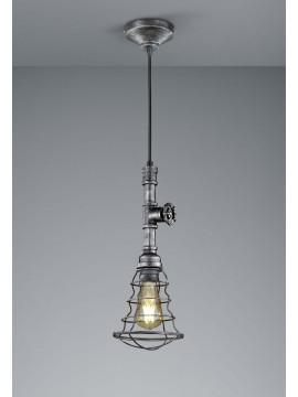 Lampadario vintage con tubi acqua 1 luce trio 307000188 Gotham