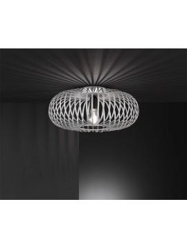 Plafoniera vintage metallo antico grigio 1 luce trio 606900161 Johann