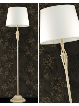 Classic floor lamp in ivory iron and gold 1 light pre LT 165 / 1C