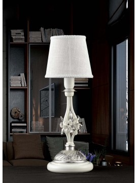Contemporary table lamp in white wrought iron 1 light pre LP 165 / 1C