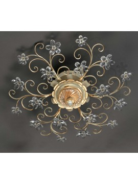 Classic ceiling lamp in wrought iron 6 light gold leaf pre PL 165/65C