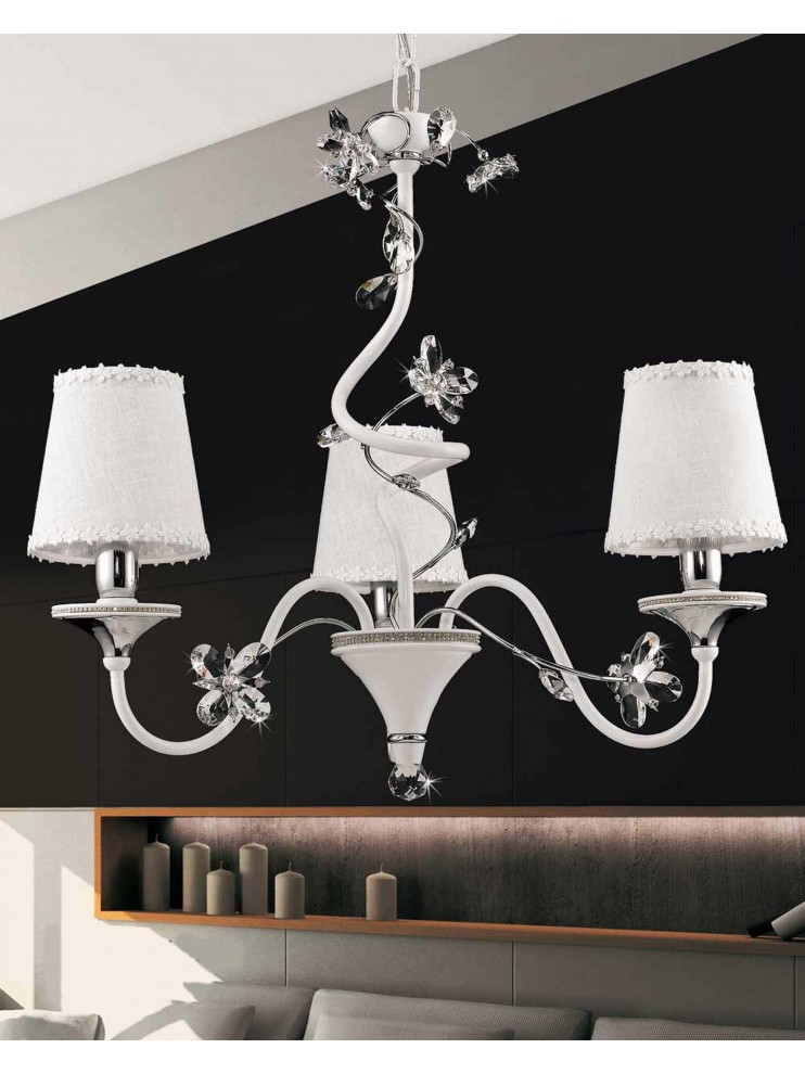 Contemporary 3 lights chandelier with strass pre LS 158/3