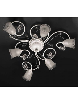 Contemporary ceiling light 6 lights in wrought iron pre PL158 / 6