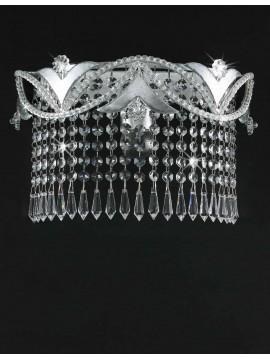 Applique in ferro battuto foglia argento 1 luce pre153/30c