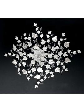 Plafoniera contemporanea bianca con cristallo 5 luci pre PL 152/70B