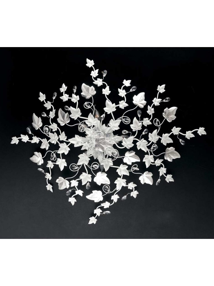 Contemporary ceiling light white with crystal pre PL 152 / 70B