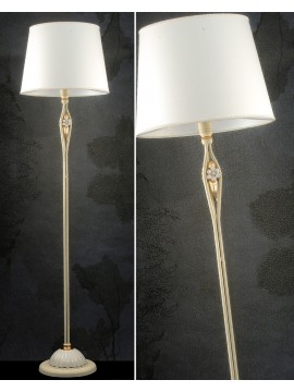 Floor lamp in wrought iron ivory and porcelain 1 light pre Lt 165 / 1P