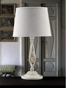 Lume grande in ferro battuto bianco e porcellana 1 luce pre Lg 165/1P