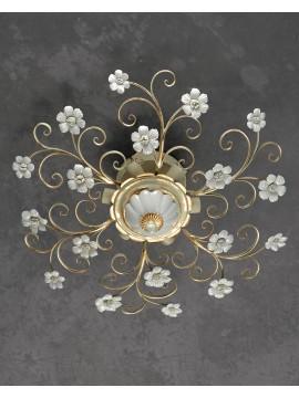 Plafoniera in ferro battuto classica porcellana 6 luci pre Pl 165/65P