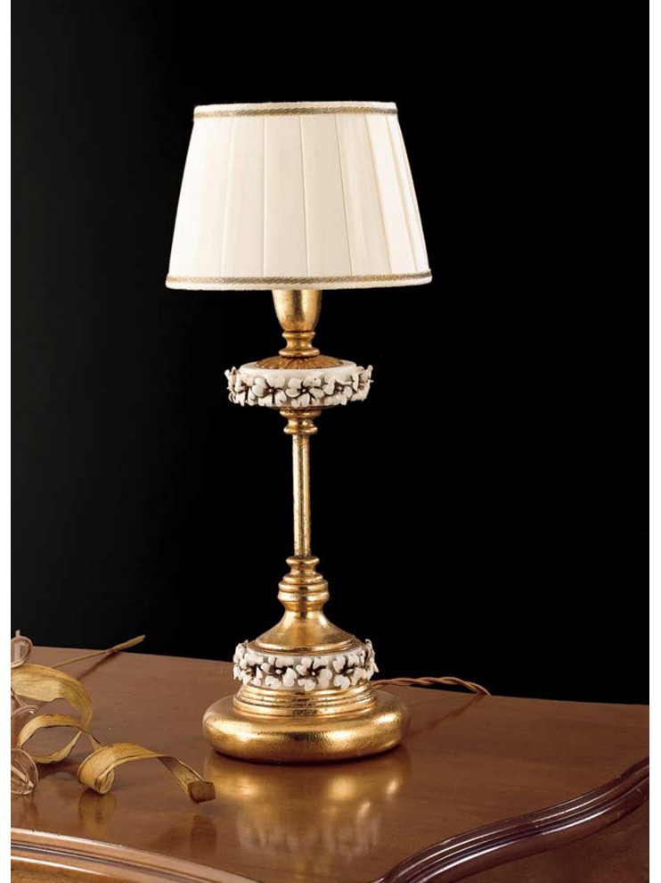 Classic table lamp 1 light wrought iron gold leaf LP 142