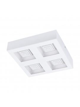 Plafoniera a led moderna bianca 4 luci 25,2w GLO 96794 Ferreros