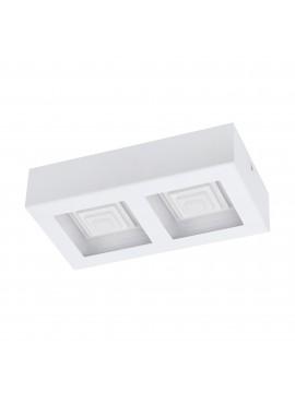 Plafoniera a led moderna bianca 2 luci 12,6w GLO 96792 Ferreros