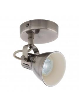 Faretto spot moderno nickel antico 1 luce GLO 96552 Seras