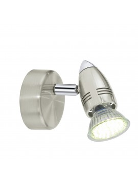 Faretto spot moderno nickel 1 luce GLO 92641 Magnum- Led
